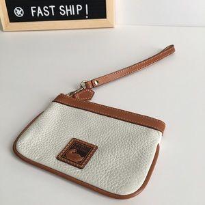 Dooney & Bourke Leather Wristlet - White